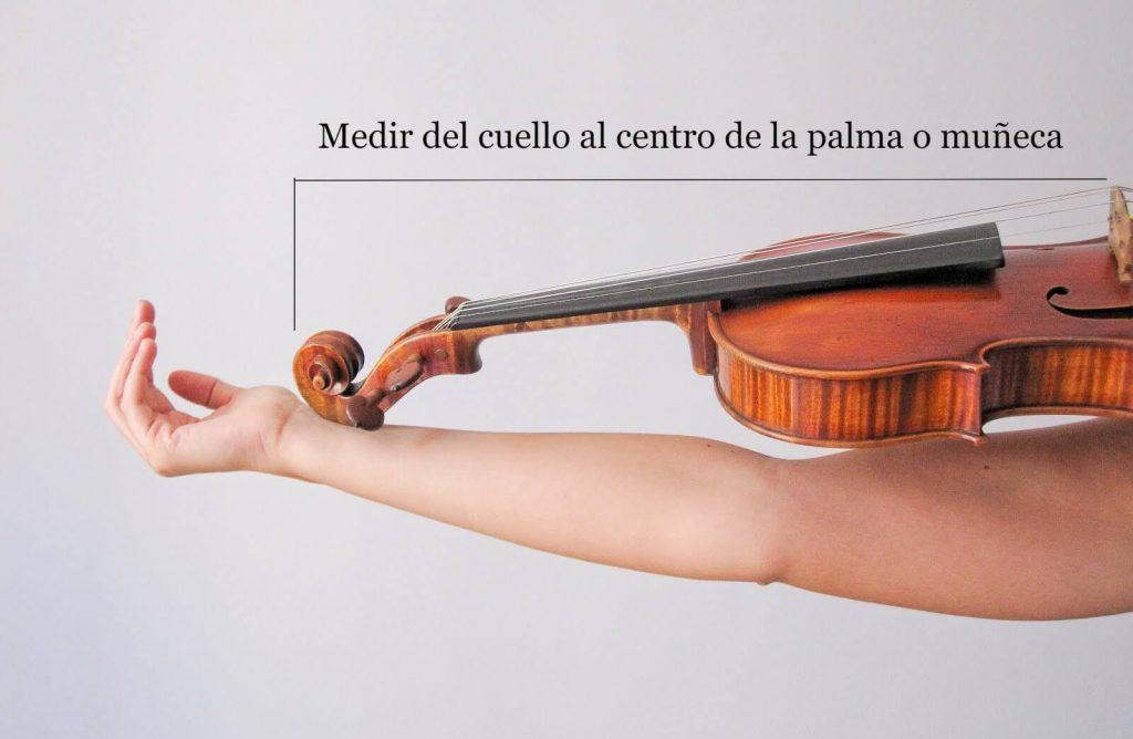 Forma de medir los violines con su tamaño